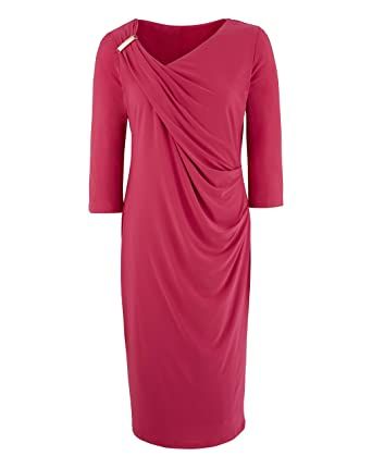 4ad17411ff12 Womens Ava by Mark Heyes Ruched Shoulder Dress  Amazon.co.uk  Clothing