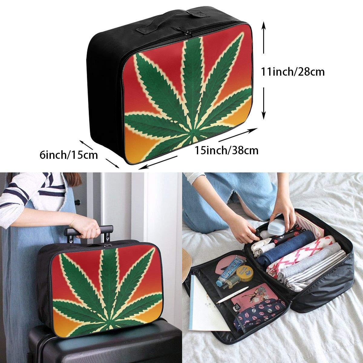 YueLJB Marijuana Legalization Blues Lightweight Large Capacity Portable Luggage Bag Travel Duffel Bag Storage Carry Luggage Duffle Tote Bag
