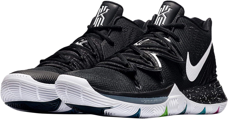 NIKE Men's Kyrie 5 Basketball Shoes (8.5, 黒/Multi)