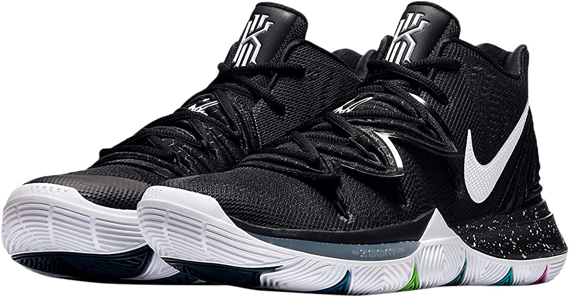 premium selection c1c62 62fcf Amazon.com | NIKE Men's Kyrie 5 Basketball Shoes (8.5, Black ...