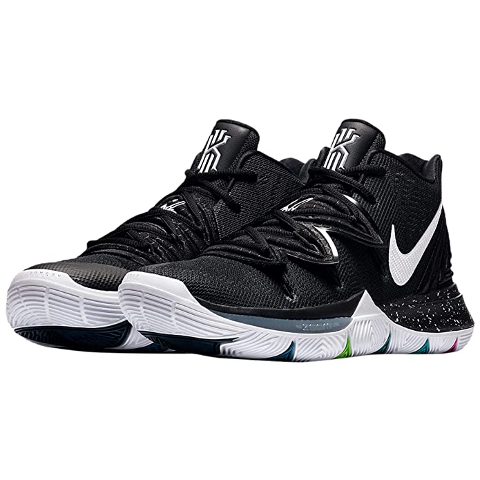 NIKE Men's Kyrie 5 Basketball Shoes (10.5, Black/Multi)