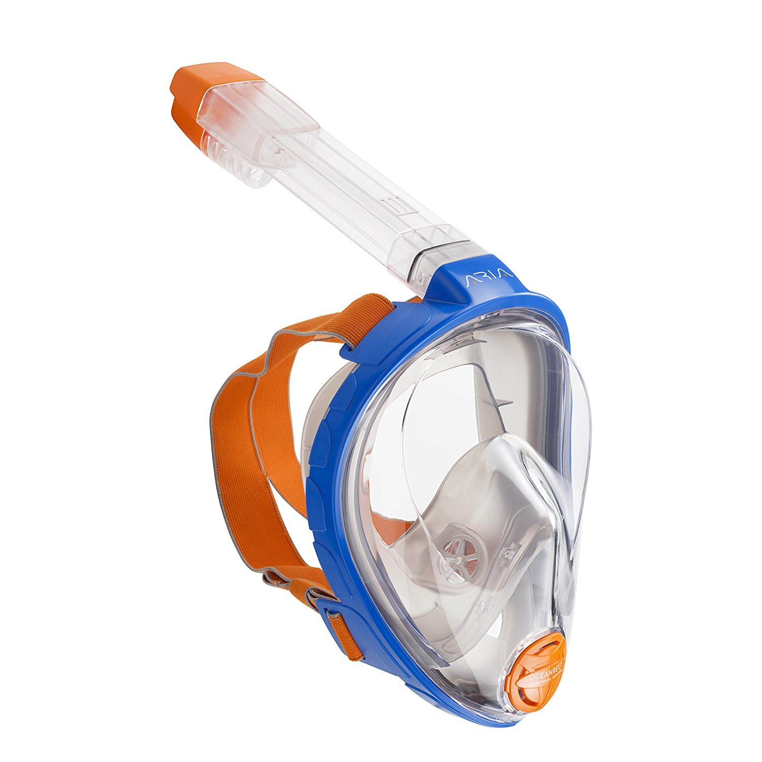 Ocean Reef Aria Full Face Snorkel Mask (Blue, Extra Small)