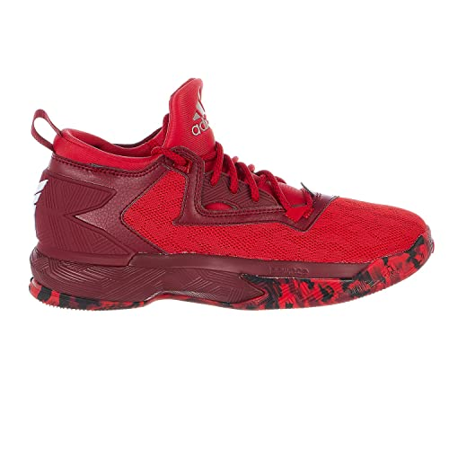 new product 6b0a3 98364 adidas D Lillard 2 Mens Basketball Shoe 9.5 Scarlet-Burgundy-White