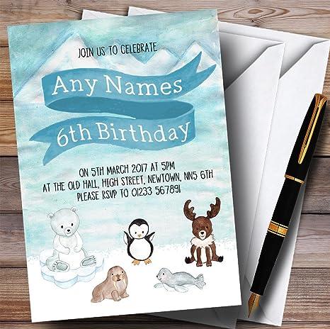 Amazon.com: Hielo Polar animales fiesta de cumpleaños ...