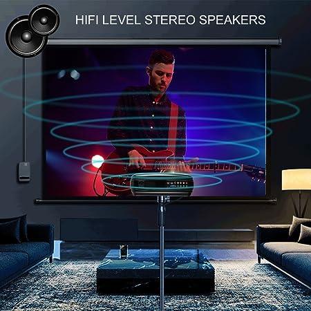 Proyector LED, ICOCO LESHP Proyector Full HD 1080P 3200 Lúmenes Proyector Video Portátil Proyector LCD Home Cinema Soporte TV HD HD con Doble HDMI / VGA / AV Precio Ideal Para el