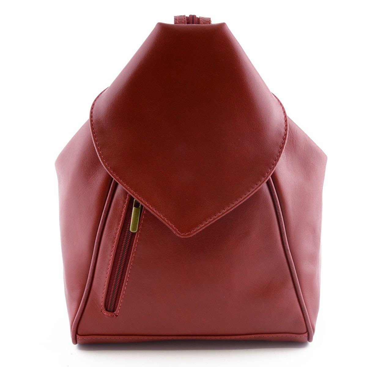 Made In Italy Woman Leather Backpack Color Red - Backpack   B015S9XVD0