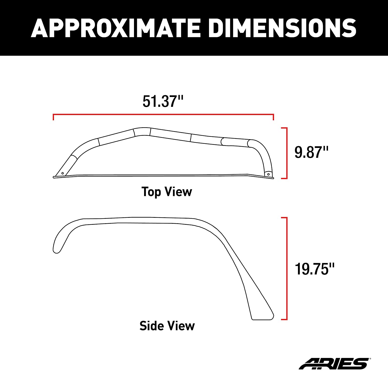 ARIES 1500202 Paintable Raw Aluminum Front Jeep Wrangler JK Fender Flares