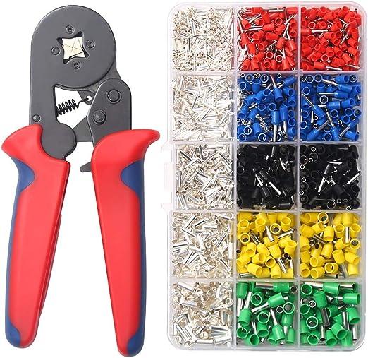 Ferrule Crimpers Crimping Tool Plier Set With 1640pcs Wire Terminals Kit Pliers