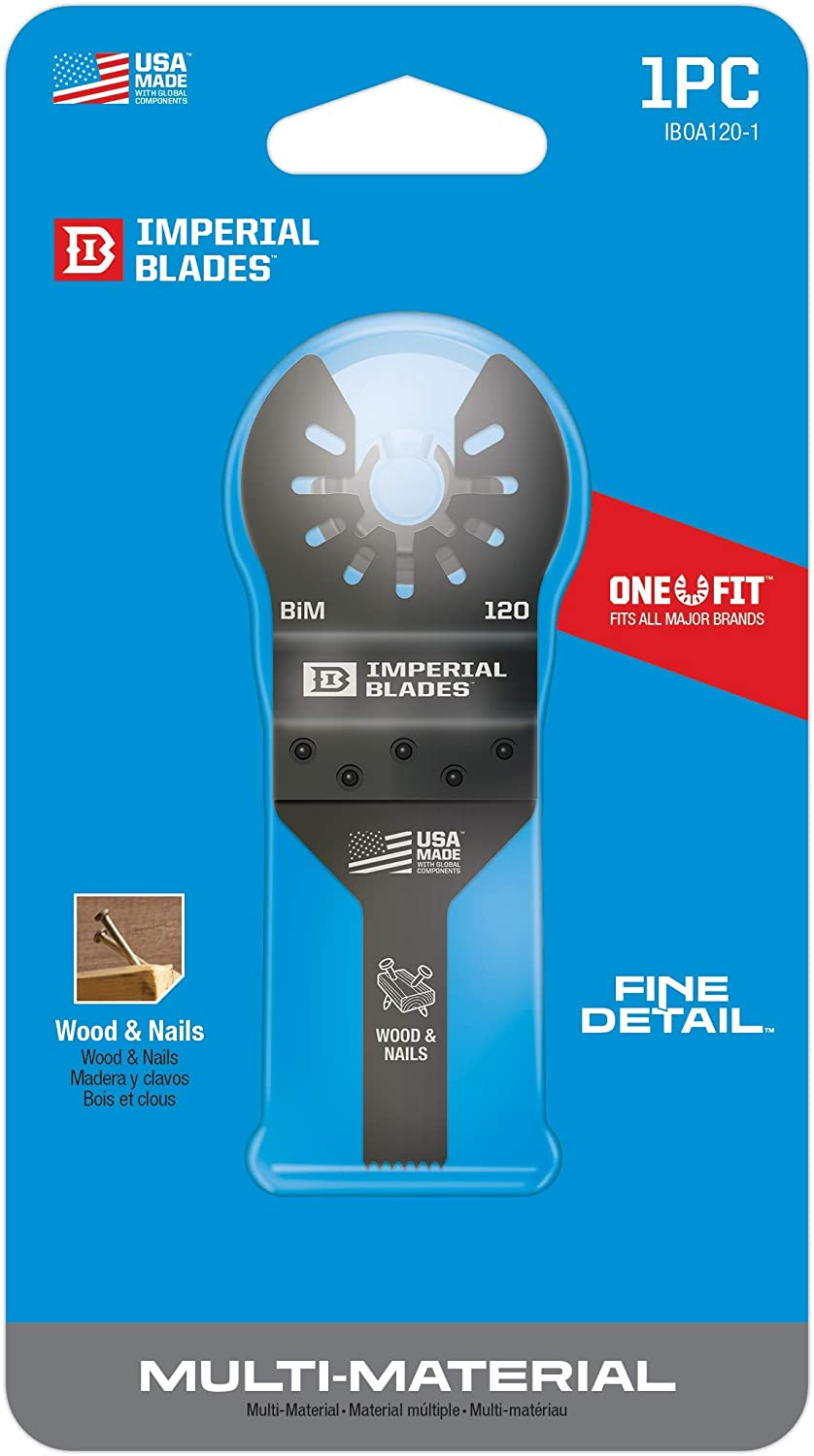 IMPERIAL IBOA120-1 ONE FIT OSCILLATING TOOL WOOD HCS BLADE