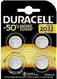 Duracell Specialty Pila de botón de Litio 2032, Paquete de 4
