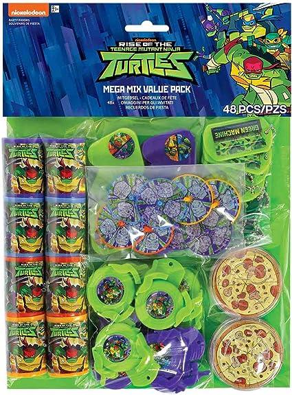 Teenage Mutant Ninja Turtle TMNT 48 piece Favor Pack Birthday party supplies