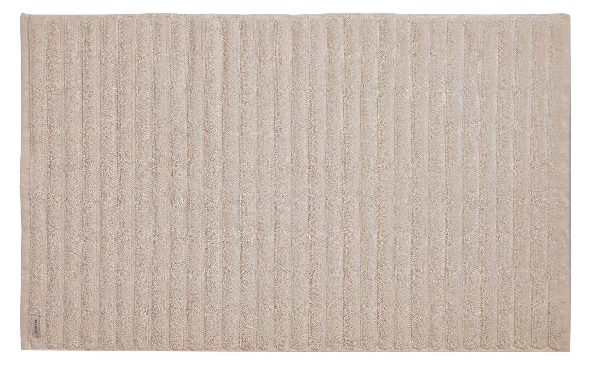 Bianca algodón suave acanalado–alfombrilla de baño, color crema, algodón, Blanco, Bathmat Turner Bianca TW/39041/R/BMAT/WH