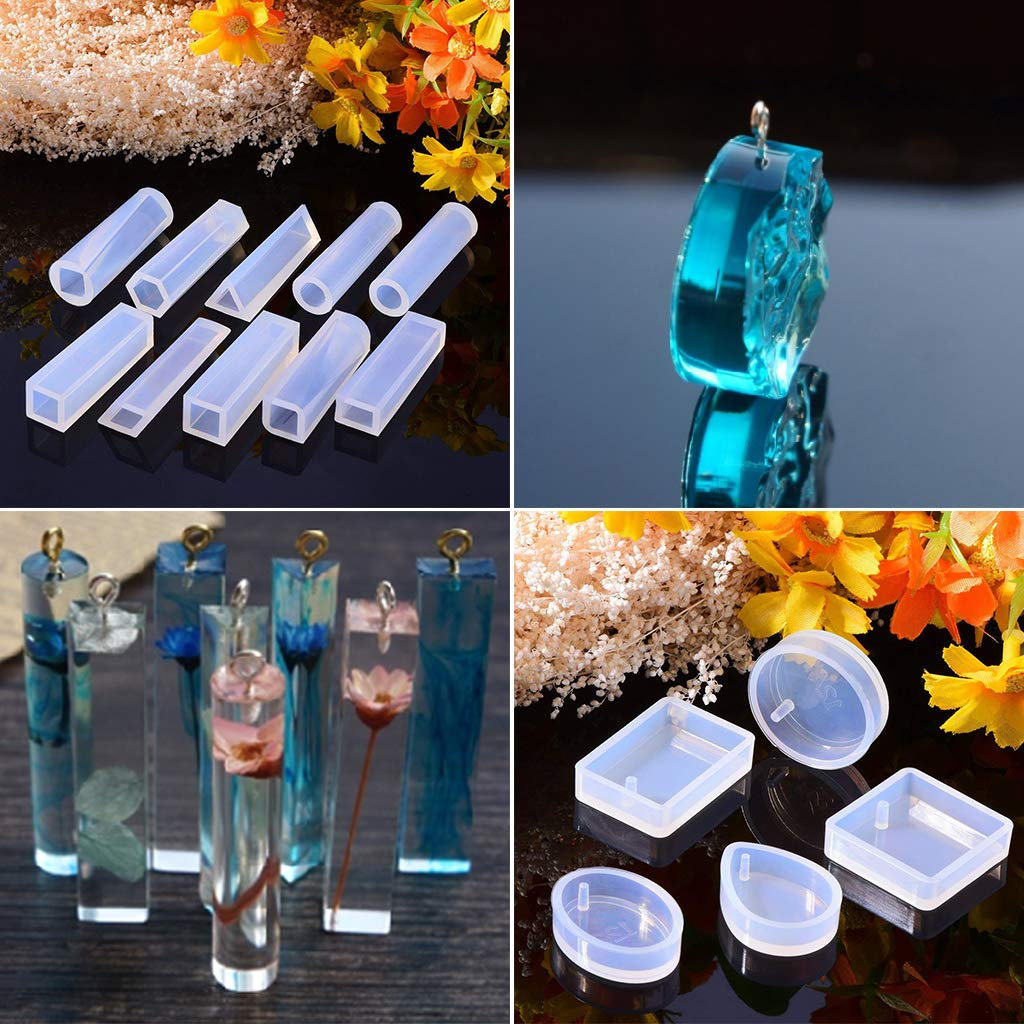 DDARK 1 Set Silicone Mold Kit Epoxy Resin DIY Jewelry Making Cake Decoration Crafts Art Silicone Molds Clasp Pins Tools Crystal