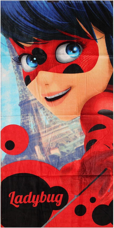 Miraculous Lady Bug Toalla 70 x 140 cm Toalla de playa, algodón, 246, 70 x 140 cm: Amazon.es: Hogar
