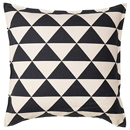 Amazon.com: IKEA ASIA Johanne Cushion Cover Natural Black ...