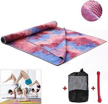 Amazon.com: Getfitsoo - Toalla de yoga con parte trasera de ...