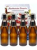 """6er Set Bügelflaschen Bügelflasche Glasflaschen 330ml """" Braun """" mit Bügelverschluss zum Selbstbefüllen Bier Bierflaschen Bierflasche"""