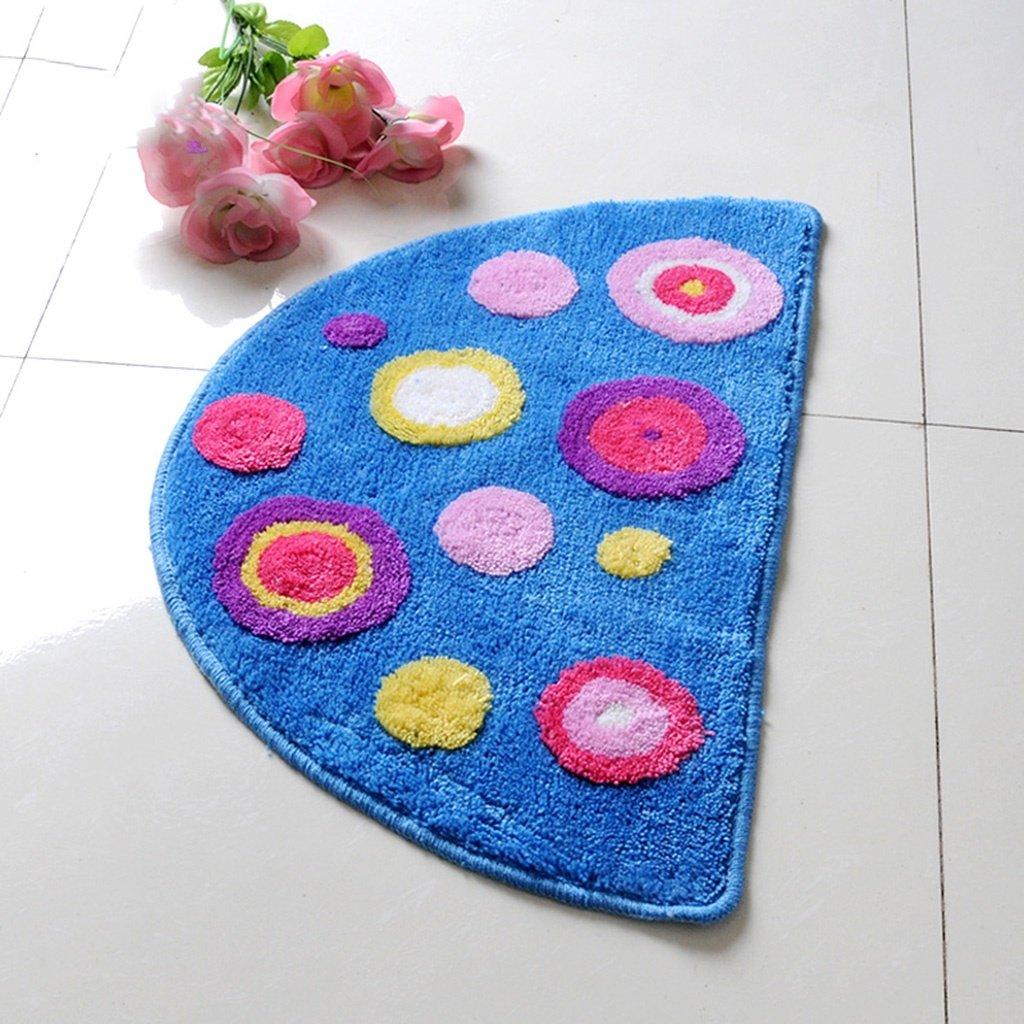 Cqq tappetino da bagno Tappeto per tappetini da bagno Tappetino anti-skid per bagno antiscivolo frontale in metallo circolare ( Colore : A )