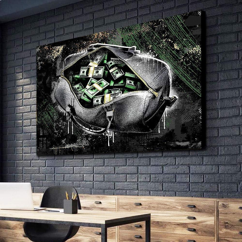 Libro de pintura al óleo abstracta Cuadro en lienzo Imagen Arte de la pared Pinturas 1 pieza Monedero abstracto Dinero Decoración para el hogar Cartel moderno modular para sala de estar 30x45cmx1pcs