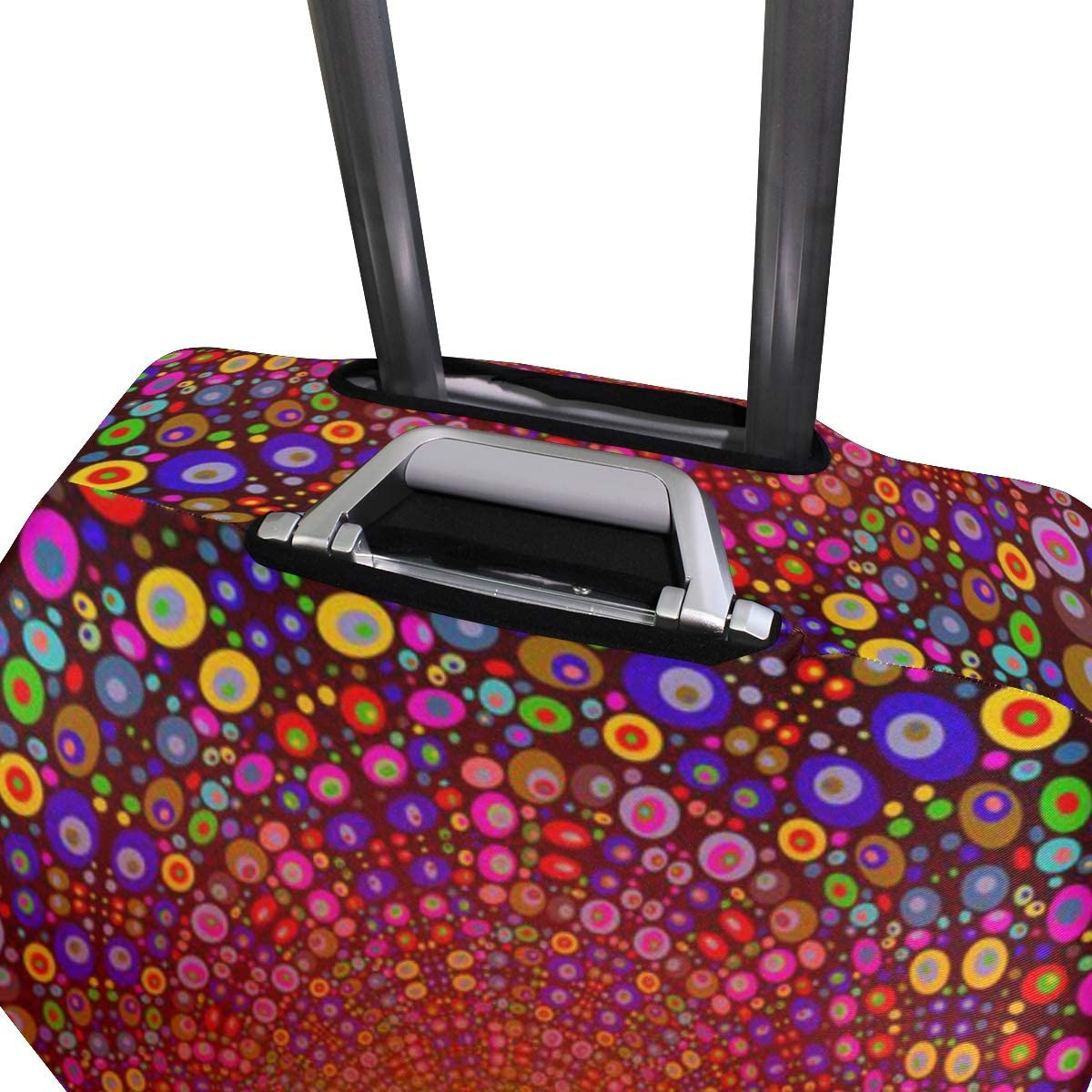 Cute 3D Color Circle Pattern Luggage Protector Travel Luggage Cover Trolley Case Protective Cover Fits 18-32 Inch
