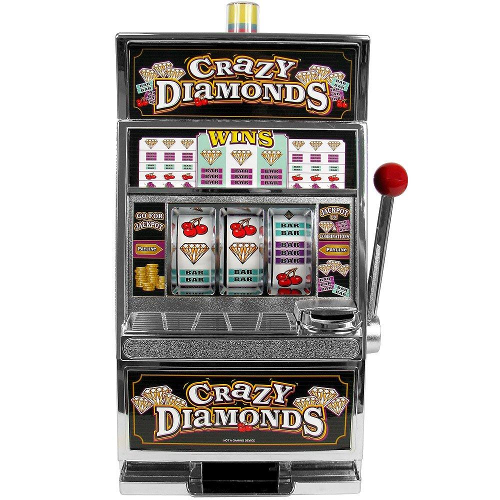 TMG Replica Crazy Diamonds Mini Slot Machine Bank - Includes Bonus Dice!