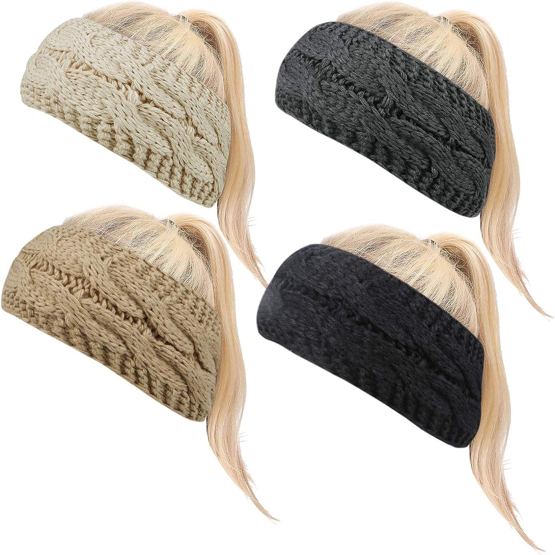 4 Pack Winter Headband Ear...