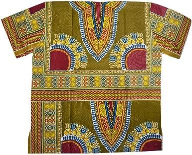 Horus Artesanía de Egipto Camisa Africana algodón Wax Unisex de 65 cm Ancho y 77 cm Largo Ref.11: Amazon.es: Ropa y accesorios
