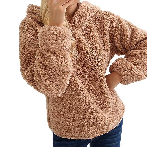 Darringls Abrigos de Invierno Mujer 2018, Suéter de Chaqueta otoño Camiseta de Manga Larga Mujer Jersey cálido Hoodie Felpa Sudadera con Capucha: Amazon.es: ...