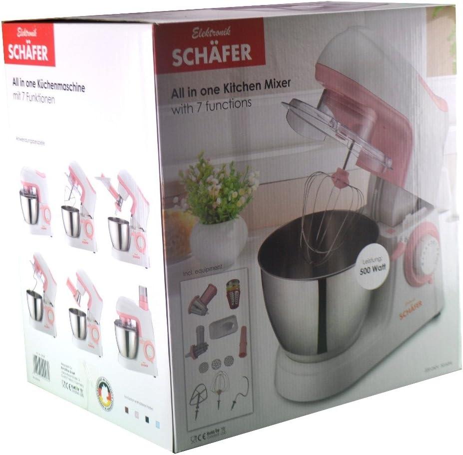luxuriöse Robot de cocina 3 en 1 con batidora, – Amasadora y picadora de carne: Amazon.es