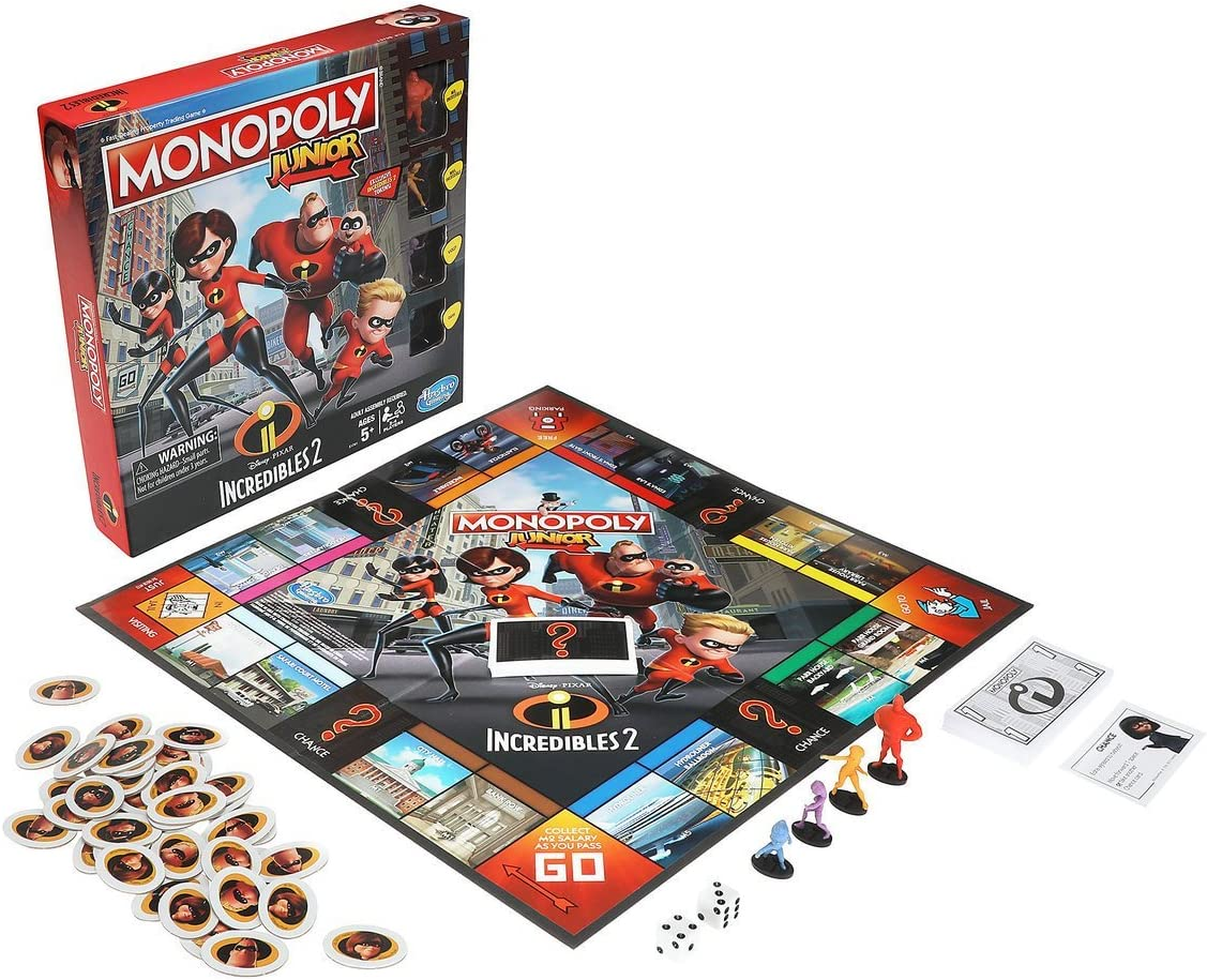 Disney E1781102 The Incredibles Monopoly Junior: Amazon.es: Juguetes y juegos