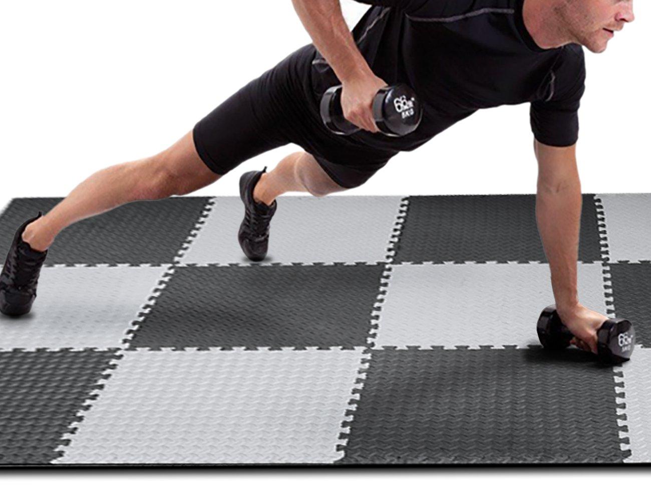 Innhom Gym Flooring Mat Interlocking Foam Mats Puzzle