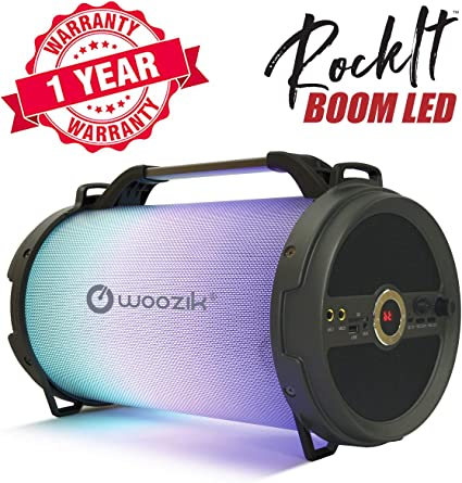 Amazon.com: Woozik Rockit Boom - Altavoz Bluetooth LED ...
