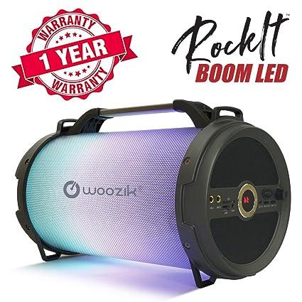 Amazon.com: Woozik Rockit Boom - Altavoz Bluetooth LED ...