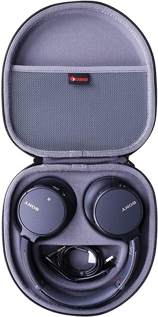 Amazon.com: XANAD Hard Case for Sony WHCH700N or Sony WHCH710N Wireless Bluetooth Noise Canceling Over The Ear Headphones - Storage Protective Travel Carrying Bag(Grey)