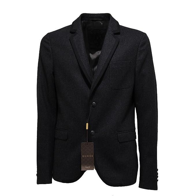 9555ab029a Gucci 6830L Giacca Uomo Grigia Lana Giacche Jackets Coats Men [50]:  Amazon.it: Abbigliamento