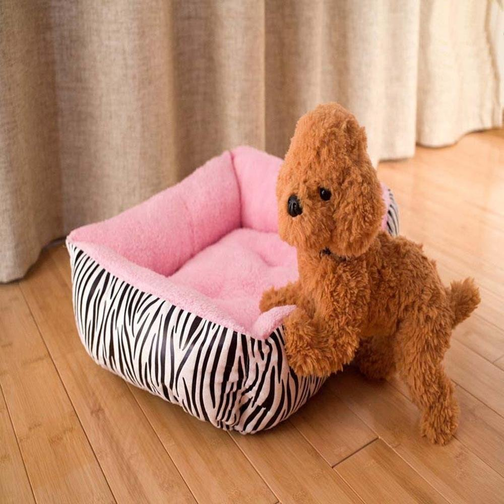 Lozse Pet Beds Pet mat cute zebra stripe pink for Dogs and Cats Sleeping Cushion