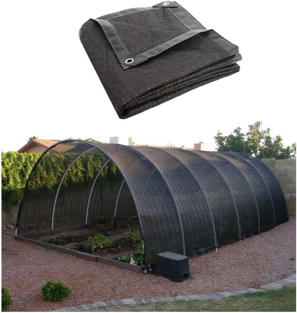 庭のための帆シェード、 日よけシェルター 日陰シェード布85%日焼け止めブラック温室シェードネットuvブロック日焼け止め日除けキャノピーテントシェードタープで補強付き屋外ガーデンパティオパーティー装飾植物保護車のカバー (Size : 10x10M(32.8x32.8ft))  10x10M(32.8x32.8ft)