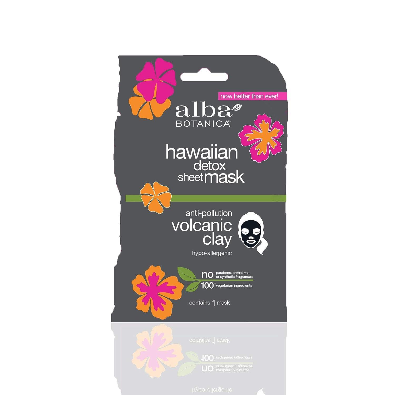 Alba Botanica Anti-Pollution Volcanic Clay Hawaiian Detox Sheet Mask, Pack of 8
