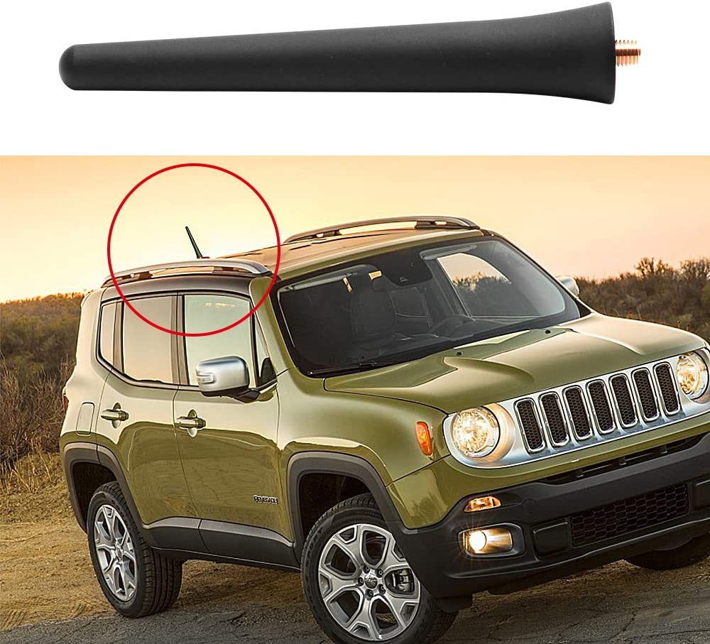 VOFONO 4.5 inches Stubby Aluminum Antenna Replacement for 2011-2018 Jeep Cherokee Chrysler Dodge Journey