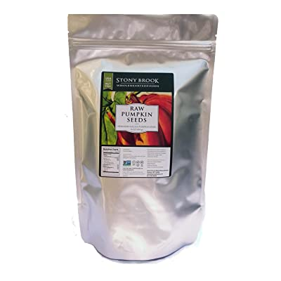 Stony Brook Heirloom Raw Pumpkin Seeds, USA grown - 16 oz: Grocery & Gourmet Food