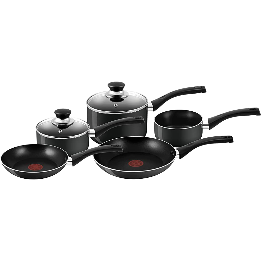 Tefal Bistro 5-Piece Black Cookware Set