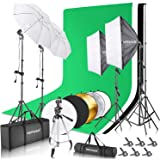Neewer Complete Photography Lighting Kit: 8.5x10feet Background Support System/800W 5500K Umbrellas Softbox Continuous…