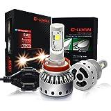 DLUMINA H11 H8 H9 LED Headlight Bulbs Conversion Kit, CREE XHP50 8,000Lm 6000K Xenon White, Low Beam Headlamp, High Beam Headlights, Fog Light, HID or Halogen Head light Replacement - 3 Year Warranty