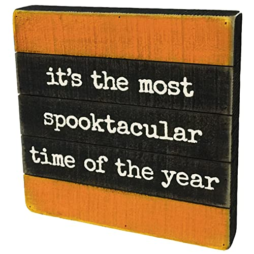 PBK Halloween Decor - Most Spooktacular Time of the Year Slat Pallet Sign