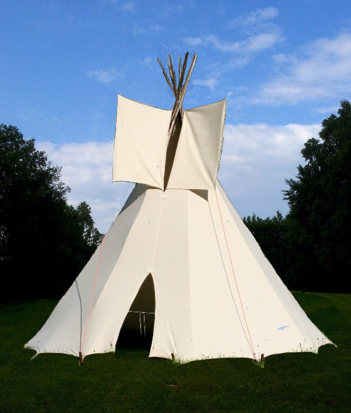 Ø 3m Tipi Indianerzelt Wigwam Indianer Zelt Sioux Style: Amazon.de ...