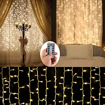 Amazon Com Battery Operated Curtain String Lights 300