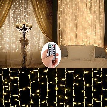 Rideau Lumineux Led Guirlande Lumineux Alimenté Par Batterie 3m33m