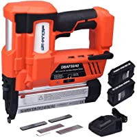 BHTOP Cordless Brad Nailer &Stapler 2 in 1 18Ga Heavy Finish Nail Gun with 18Volt 2Ah Lithium-ion Rechargeable Battery…