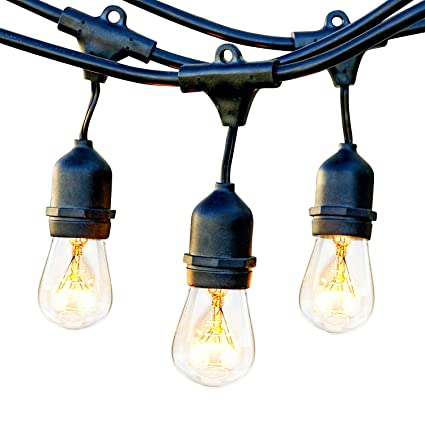 Amazon brightech ambience pro waterproof outdoor string lights brightech ambience pro waterproof outdoor string lights with vintage hanging edison bulbs 48 ft commercial aloadofball Images