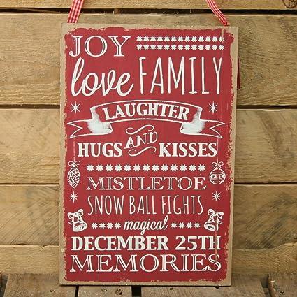 Amazon.com: Carousel Home de Madera Navidad Eslogan Frases ...